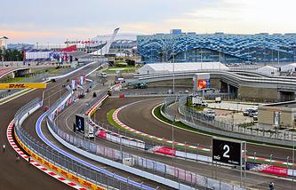 Russia's F1 race track in Sochi