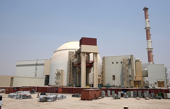 Iranian nuclear power plant in Bushehr