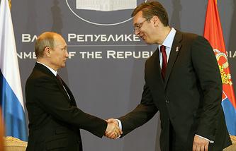 Vladimir Putin and Aleksandar Vucic