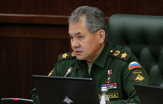 Russia's Defense Minister Sergey Shoigu