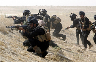 Iraqi Special operations forces participate in a military exercise