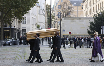 Funeral service at Saint Sulpice church in Paris, France, October 27, 2014