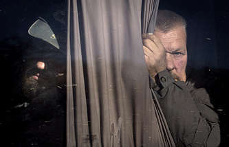 Prisoner swap between the Ukrainian government forces and militias on October 28, 2014