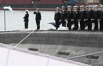 Commissioning of diesel-electric Novorossiysk submarine, 636.3 Varshavyanka project
