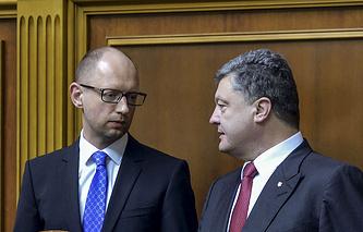 Arseniy Yatsenyuk and Petro Poroshenko (archive)