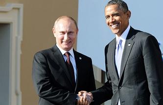 Vladimir Putin and Barack Obama (archive)