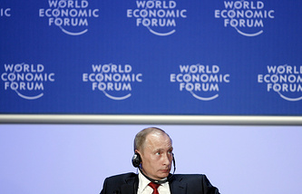 Vladimir Putin at the World Economic Forum in 2009