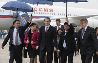 Parliamentary lower house Speaker Sergey Naryshkin on a visit to Hanoi, Vietnam