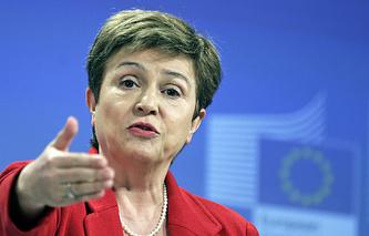 European commissioner for budget and human resources Kristalina Georgieva