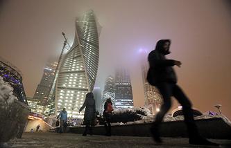 Street near the Moscow International Business Centre