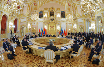 A session of the Supreme Eurasian Economic Council at the level of heads of states in Moscow