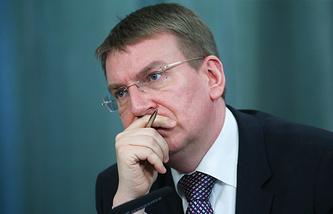 Latvian Foreign Minister Edgars Rinkevics