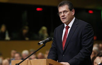 EU Commissioner for Energy Maros Sefcovic