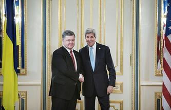 Petro Poroshenko and John Kerry