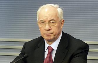 Ukraine's former Prime Minister Mykola Azarov