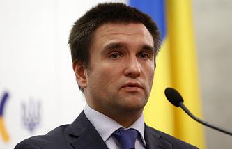 Ukrainian Foreign Minister Pavlo Klimkin