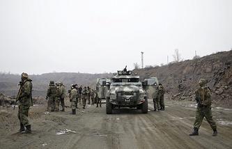Servicemen of Azov battalion
