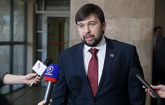 Envoy of self-proclaimed Donetsk People's Republic Denis Pushilin