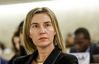 EU High Representative for Foreign Affairs and Security Policy Federica Mogherini