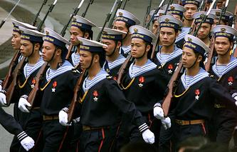 Vietnamese sailors in Hanoi