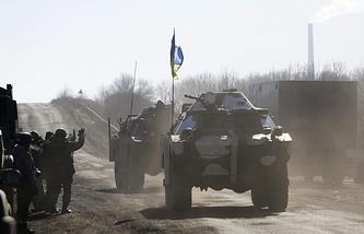Ukrainian armored military vehicles