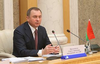 Belarusian Foreign Minister Vladimir Makei