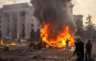 Fire at the House if Trade Unions in Odessa, May 2, 2014