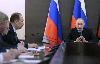 Russian President Vladimir Putin in Khakassia
