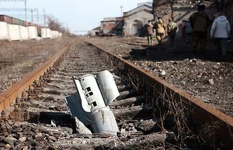 A sheel seen in eastern Ukraine (archive)