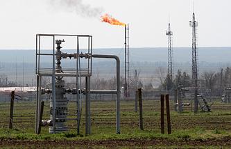 Gas storage facility in Crimea