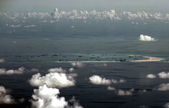 A reef in the Spratly group of islands in the South China Sea