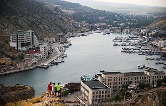 View of the town of Balaklava near Sevastopol, Crimea