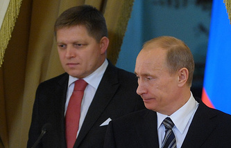 Vladimir Putin and Robert Fico (archive)