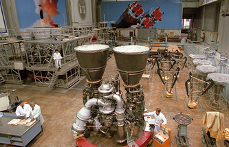 RD-180 engine at the manufacturing site (archive)