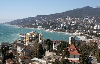 A view of Crimea's city of Yalta