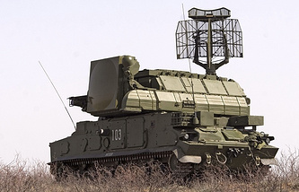 The cannon is to be mounted on the chassis of the Buk anti-aircraft missile system (photo)