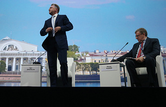Russian First Deputy Prime Minister Igor Shuvalov (left)