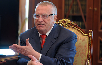The Liberal-Democratic Party of Russia (LDPR) leader Vladimir Zhirinovsky
