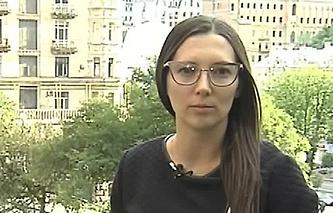 Russian Channel One correspondent Alexandra Cherepnina