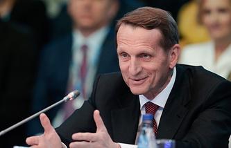 Speaker of Russia's State Duma Sergey Naryshkin