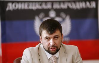 DPR's envoy to the peace talks Denis Pushilin