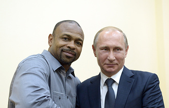 Roy Jones Jr. and Vladimir Putin