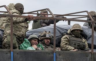 Ukrainian soldiers in the Donetsk Region, Jul. 14 2015