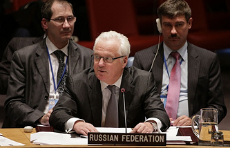 Russia's permanent representative to the UN Vitaly Churkin