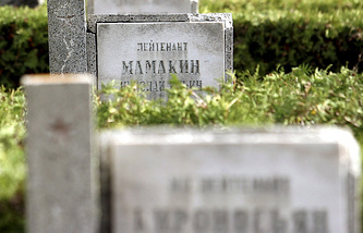 Cemetery of Soviet soldiers in Poland (archive)