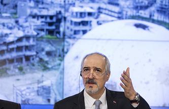 Syria's envoy to the UN Bashar al-Jaafari