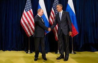 Russian President Vladimir Putin and US President Barack Obama