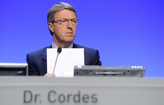 Eckhard Cordes, the chairman of Germany's Committee on Eastern European Economic Relations
