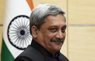 Indian Defense Minister Manohar Parrikar