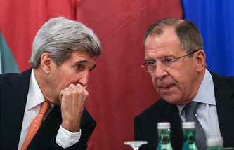 John Kerry and Sergey Lavrov